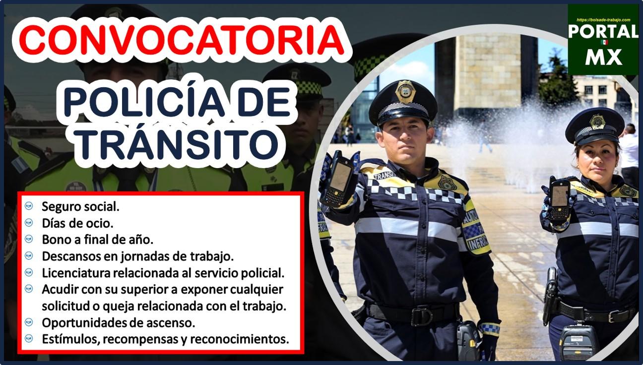 Convocatoria Policía de Tránsito 2021-2022