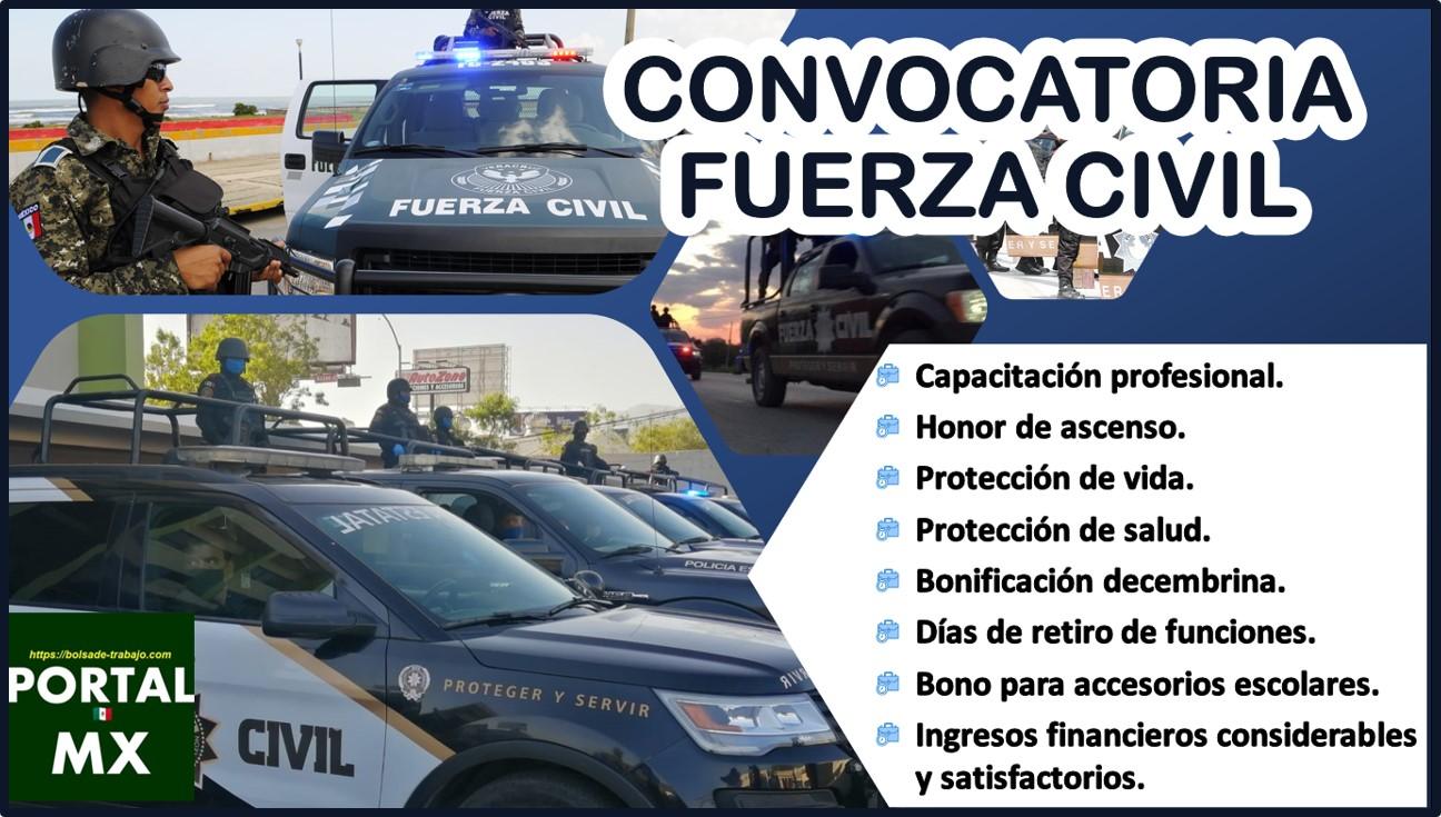 Convocatoria Fuerza Civil 2021-2022