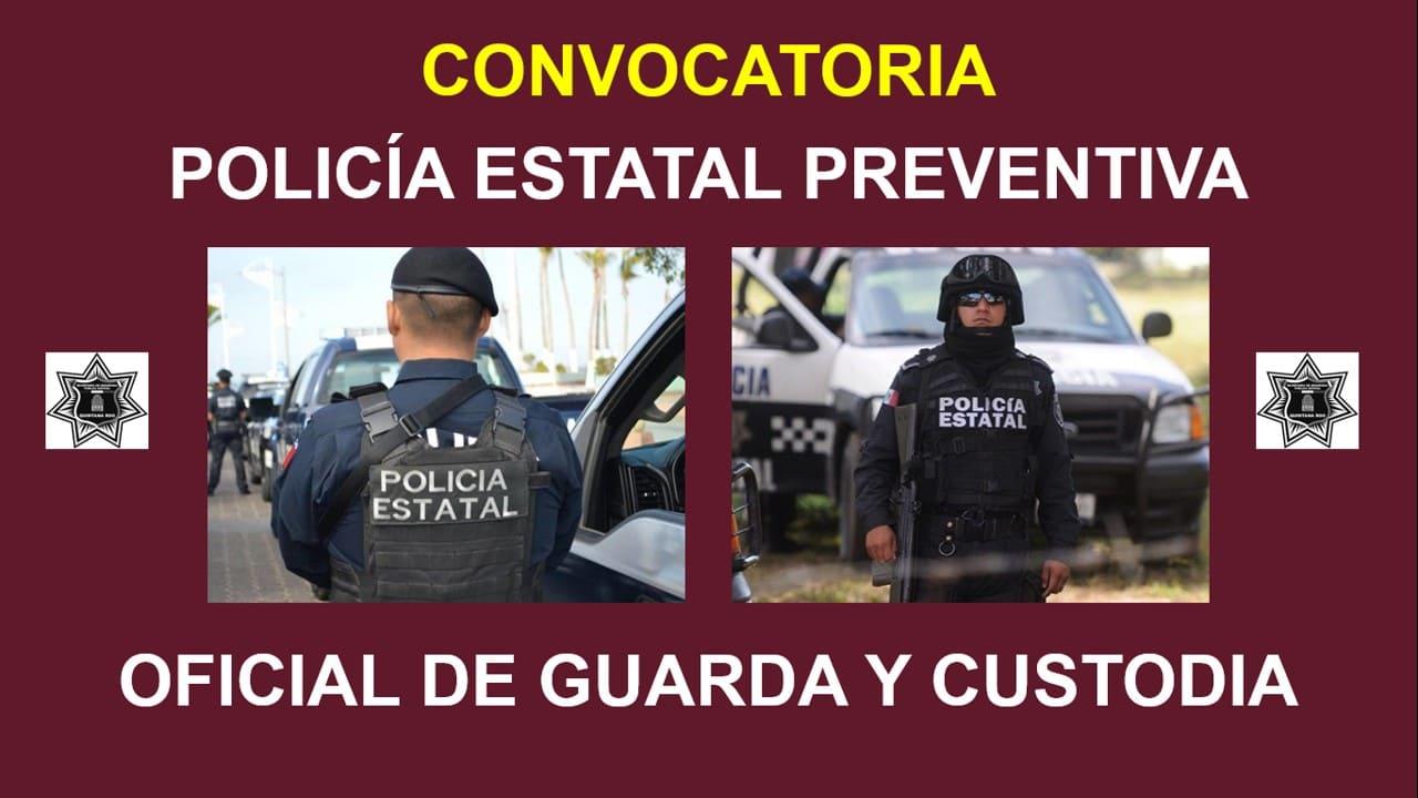 Convocatoria policia preventivo y oficial guarda y custodio